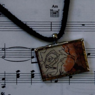 """Create Beauty"" necklace with leather"